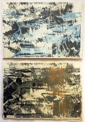 o-68 karen vermeren Limestone Mine, 2017, 2x framed web