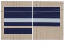 O-68 José Heerkens. 2018-L2. Letter of Two Sides. olieverf op linnen, 50 x 80 + 2 cm (foto Willem Kuijpers)