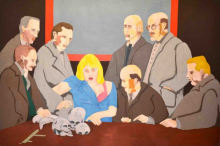 o-68 Ad Gerritsen, Beschouwers, 1991, oil on canvas, 200x300cm web