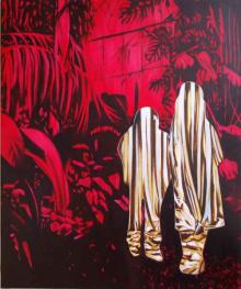 O-68 Daniela Schwabe, 2016, I, oil and gold leaf on canvas, 90x75cm, web