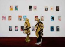 O-68 Daniela Schwabe 2017 Berlin Confessions, oil and gold leaf on canvas, 80x110cm web