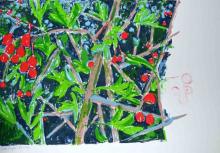 O-68 Elli Slegten, rode bessen, zeefdruk, 6 van 8, 2007