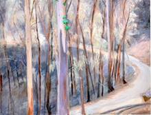 O-68 Elli Slegten, weg door verbrand bos, acryl op linnen, 2013
