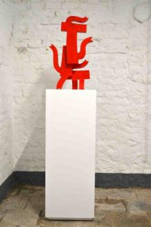 o-68 Klaas Gubbels, Cascade II, sculptuur, verf op hout, 2015