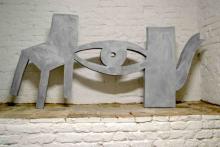 o-68 Klaas Gubbels, Kijk en zie, verf op hout, sculptuur, 2001-2018