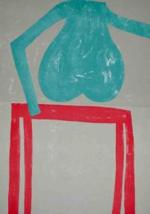 o-68 Klaas Gubbels, zonder titel, litho 1989