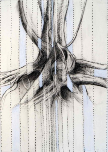O-68 Terry Thompson, Boom 4, mixed media on paper, 100 X 70 cm, 2017 web