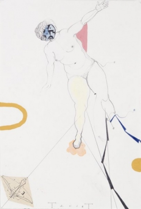 O-68 Terry Thompson, Cassiopeia, mixed media on paper, 42 X 29,5 cm, 2016 web