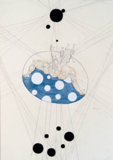O-68 Terry Thompson, Eclipse, mixed media on paper, 100 X 70 cm, 2018 web