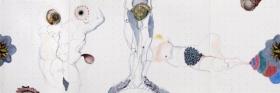 O-68 Terry Thompson, Pschopomp, mixed media on paper, 38 X 114 cm, 2015 web
