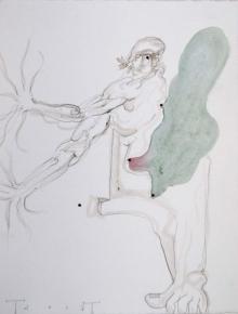 O-68 Terry Thompson, untitled I, mixed media on paper, 33 X 25,5 cm, 2017 web
