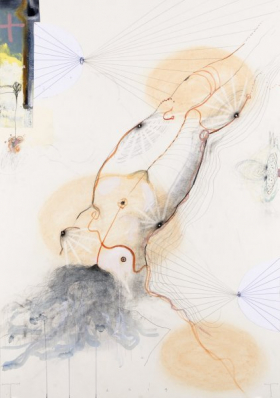 O-68 Terry Thompson, Lens, mixed media on paper, 100 X 70 cm, 2014 web