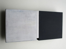 O-68 nr. 22 Tineke Porck 10x20,5cm division-1 with white 2018 oil on wood and mdf