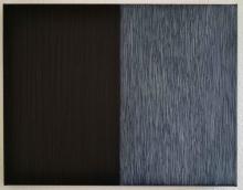 O-68 nr. 25 Tineke Porck, Lines 2018-2, oil oilcrayon on canvas, 40 x 50 cm