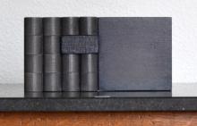 O-68 nr. 34 Tineke Porck, blockdialogue 7, 2015, oil on wood and MDF, 10 x 20 x 3 cm