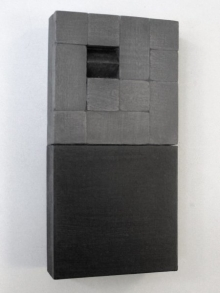 O-68 nr. 44 Tineke Porck 10x20x4 cm blockdialogue bd-23 olieverf op hout en mdf 2017 foto Henk Porck