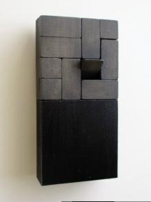 O-68 nr. 45 Tineke Porck 20x10x4 cm blockdialogue bd-22 olieverf op hout en mdf 2017 foto Henk Porck