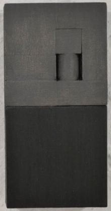 O-68 nr. 48 Tineke Porck Block dialogue 22, oil on wood and MDF, 20 x 10 x 4 cm