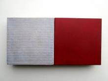 O-68 nr. 6 Tineke Porck untitled dialogue 2018-1 10x20cm olieverf oliekrijt op mdf