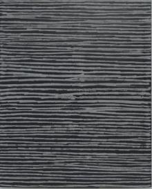 O-68 nr. 7 Tineke Porck Horisontal chalk lines 2003-2017 100x80cm oil on canvas