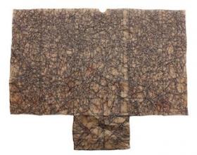 O-68 wieteke heldens, With Black Content, 2016, 45x57cm, fineliner on brown bag web