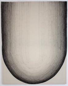 Wieteke Heldens 2015 Portrait of the U or Portrait of the Arch, 140x110, marker op doek