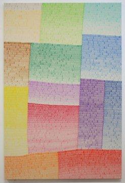 o-68 wieteke heldens, And Still No More Color, 2017, 100x150cm, marker op doek web